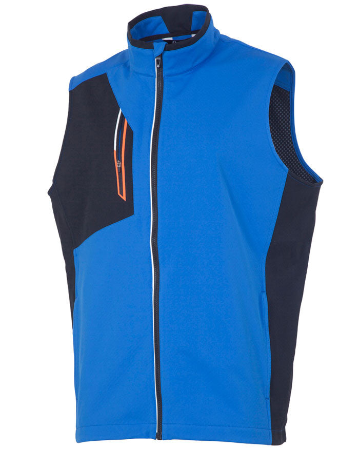 SUNICE JULIUS SOFTSHELL 3L WIND VEST - COLLEGIATE/BLACK
