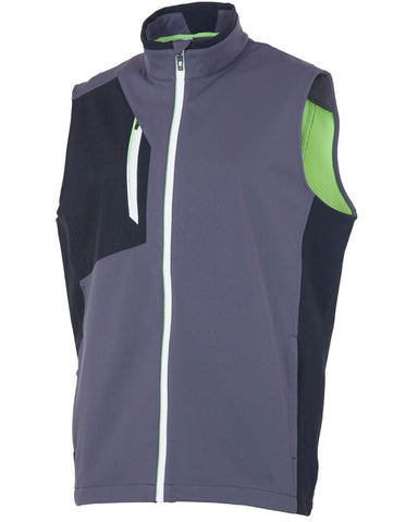 SUNICE JULIUS SOFTSHELL 3L WIND VEST - CHARCOAL/BLACK