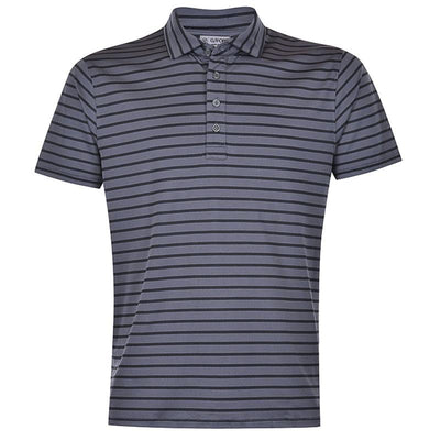 G/FORE MENS TONAL STRIPE POLO - CHARCOAL
