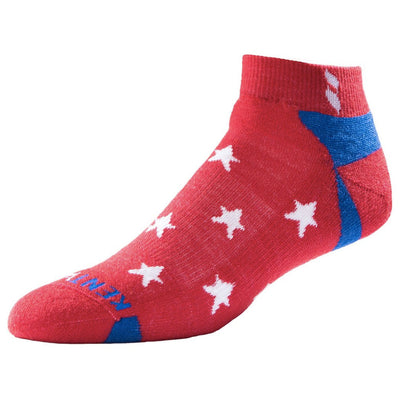 KENTWOOL MENS KW STARS ANKLE SOCKS - RED (POPPY)