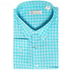 Mens Woven Long Sleeve Button Down AQUA