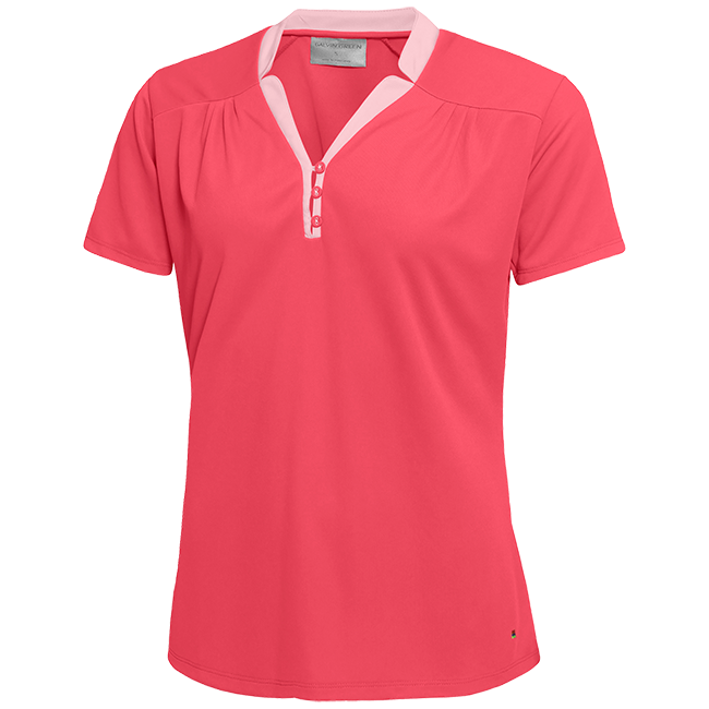 Galvin Green Womens MARIAN VENTIL8™ PLUS Polo - CHERRY / CRYSTAL PINK