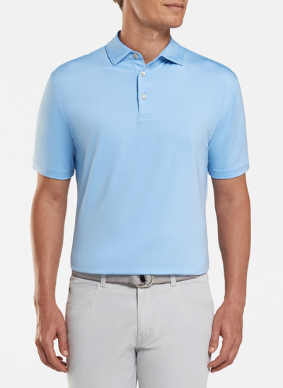 Peter Millar Mens Solid Performance Polo Self Color - COTTAGE BLUE