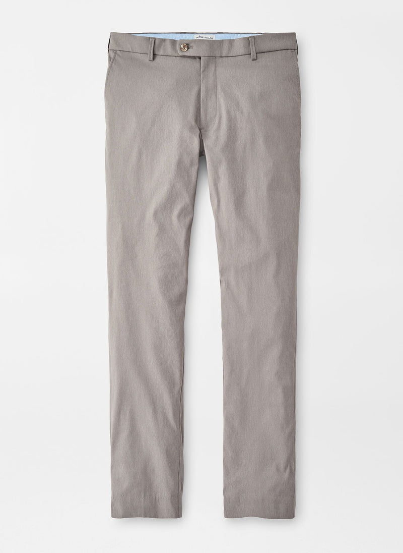 Peter Millar Mens Highlands Performance Trouser - PEARL GREY