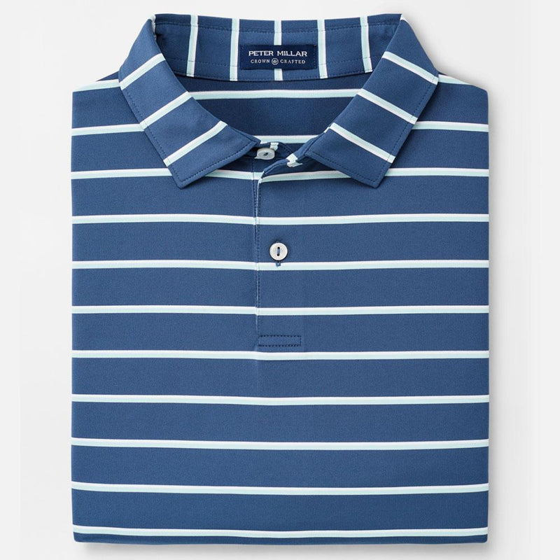 Peter Millar - Diddley Performance Polo - BLUE AGATE