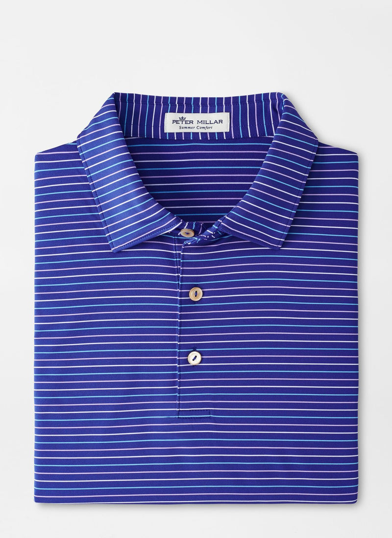 Peter Millar Mens BOAT STRIPE STRCH JRSY SN - DEEP OCEAN