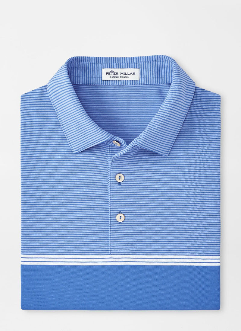 Peter Millar Mens BANK STRIPE STRETCH MESH SN - BLUE RIVER
