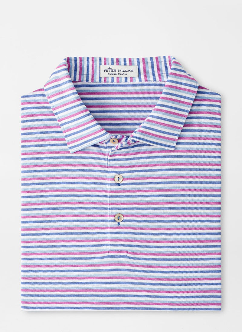 Peter Millar Mens MILL STRIPE STRETCH MESH SN - BLUE SEA