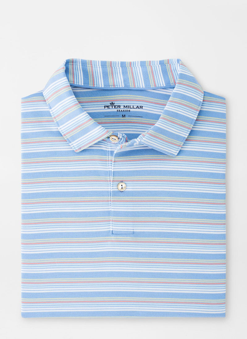 Peter Millar Mens DRIRELEASE NAT TOUCH STRIPE SN - COASTAL BLUE