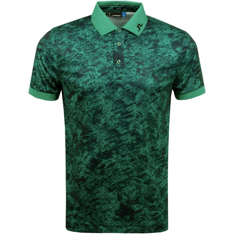 J. LINDEBERG MEN'S - TOUR TECH REG CAMOU PRINT - DEEP GREEN