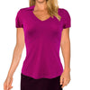 Womens Catwalk Taylor Short Sleeve Golf Top - Magenta