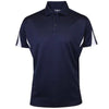 PROQUIP Men's Polyester Panelled Polo -  Navy