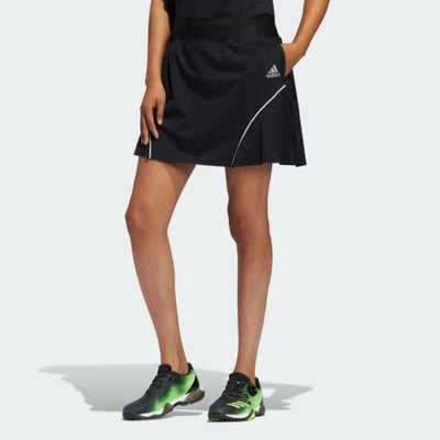 adidas Women's PERFORATED COLOR POP SKORT - Black
