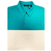 Abacus Men's Polo - White - Teal - Gray