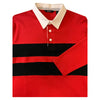 Abacus Fringe Rugger Long Sleeve Shirt - Red - Black