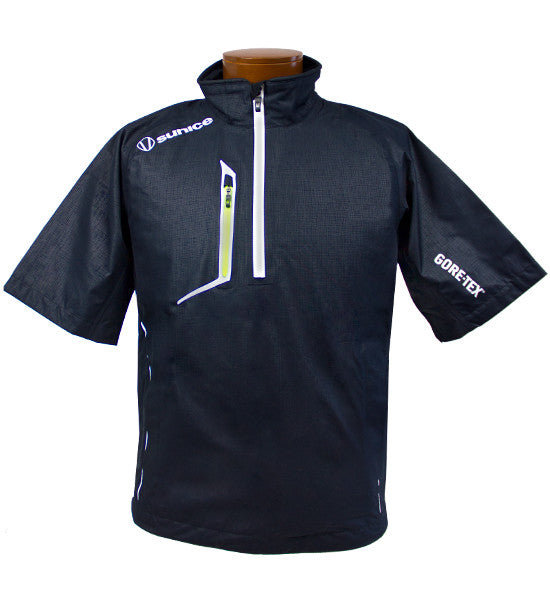 SUNICE SPENCER GORE-TEX PACLITE PULLOVER - BLACK/TENNIS BALL EMBOSSED