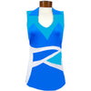 Womens Catwalk Salina Sleeveless Top - Blue/White