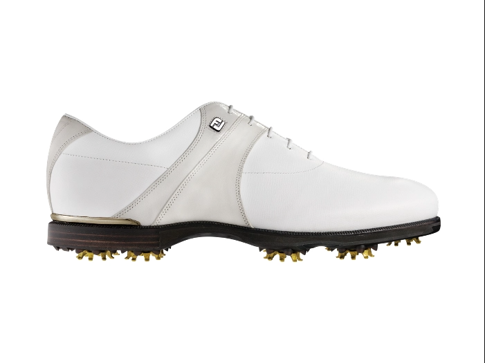 FJ ICON BLACK Mens Golf Shoes - Blemish - Extra Wide - White Leather