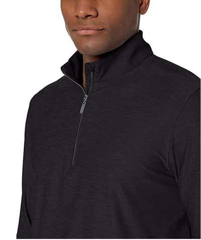 Heathered Comfort Stretch 1/4-Zip - Black Heather