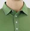 STRAIGHT DOWN MENS SELLECK POLO - VINE GREEN