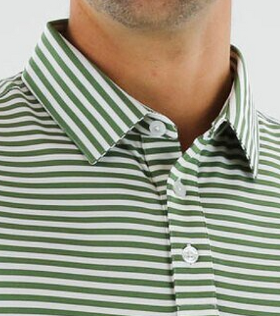 STRAIGHT DOWN MENS BEDFORD POLO - VINE GREEN