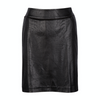 Greg Norman Distressed Faux Leather Skort - BLACK
