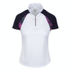 Greg Norman Women's Ramona Zip Polo - WHITE