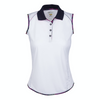 Greg Norman Women's Marina S/L Polo - WHITE