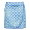 Greg Norman Women's Porcelain Tile Print Wrap Skort - WHITE