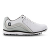 2019 FJ Womens Pro/SL Golf Shoe - WHITE/CHARCOAL - Factory Blemish sz 7M