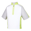 FJ - Men's Sport Short Sleeve Windshirt - White Silver Lime
