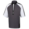 FJ - Men's Sport Short Sleeve Windshirt - Charcoal Black White