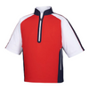 FJ - Men's Sport Short Sleeve Windshirt - Red White Navy