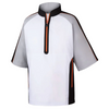 FJ - Men's Sport Short Sleeve Windshirt - Steel Grey White Orange