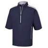 FJ - Men's Sport Short Sleeve Windshirt - Navy Silver
