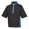 FJ - Men's Sport Short Sleeve Windshirt - Black Petrol Blue