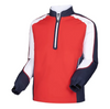 FJ - Men's Long Sleeve Sport Windshirt -Red White Navy