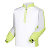 FJ - Men's Long Sleeve Sport Windshirt - White Silver Lime