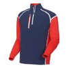 FJ - Men's Tech Wind Shell Pullover - Navy Red White
