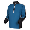 FJ - Men's Long Sleeve Sport Windshirt - Petrol Blue Black