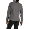 FootJoy Women's Double Layer Pique Mid-Layer Pullover - Charcoal Heather Stripe Sleeve