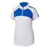 FootJoy Women's Jersey Mesh Raglan Sleeve Shirt - WHITE / ROYAL Previous Season