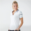 FootJoy Women's Baby Pique Stripe Shirt - White Heather
