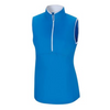 FootJoy - Sleeveless Half-Zip Shirt Women - Electric Blue White