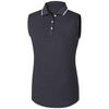 FootJoy Women's Lisle Sleeveless Side Panel Charcoal -White Blue Fish