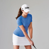FootJoy Women's Striped Crew Neck - Blue Stripe