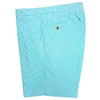 Mens Flat Front SeerSucker Walk Short - AQUA