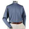 Donald Ross Long Sleeve Mock Neck Layering Shirt - STEEL BLUE - PRE ORDER