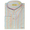 Mens Woven Long Sleeve Button Down WHITE/MULTI COLORED