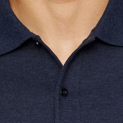 J.LINDEBERG MENS TROY CLEAN POLO SHIRT - MID BLUE